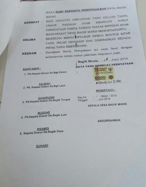 Ahmadiyah Lotim Surat 2
