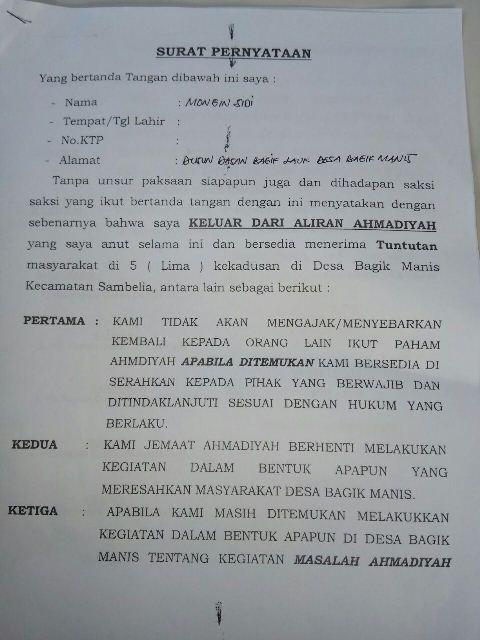 Ahmadiyah Lotim Surat1